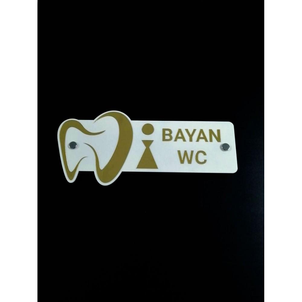 Logolu Bayan WC Kapı İsimliği