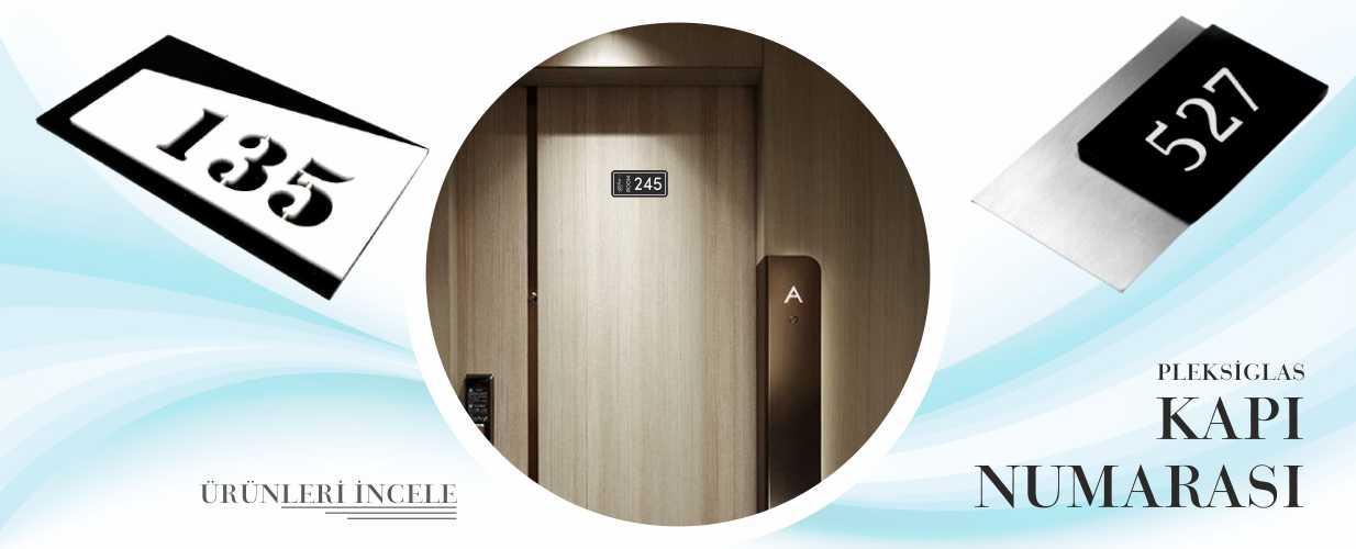 Pleksiglas Kapı Numarası
